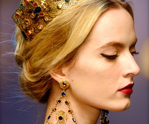 backstage, Dolce & Gabbana, and hair style image