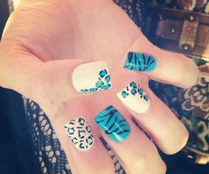 leopard and nails image