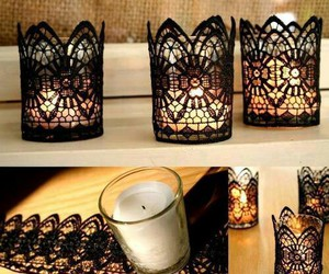 candles, decoration, and diy image
