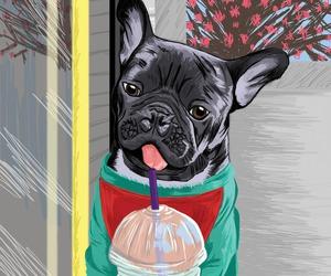 animal, art, and bulldog image