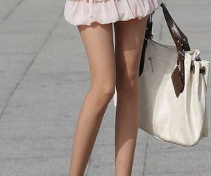 skinny, legs, and skirt image
