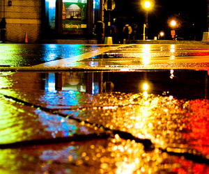 colors, night, and rain image