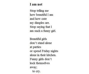 sad, quote, and depression image