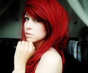 hair, red hair, and pretty image