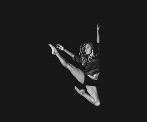 black and white, dancers, and feet image