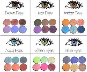 colors, eyes, and makeup image