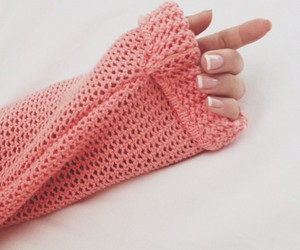 nails, pink, and sweater image