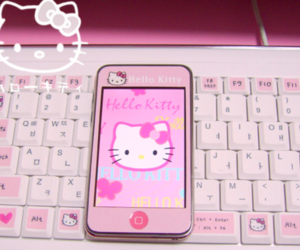 hello kitty, pink, and beautiful image