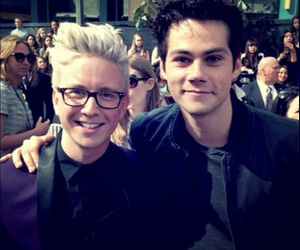 tyler oakley, dylan o'brien, and mtv image