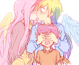 rainbow dash, fluttershy, and MLP image