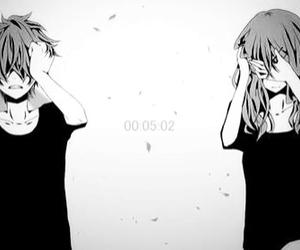 anime girl, cry, and brack image