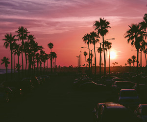 sunset, california, and summer image