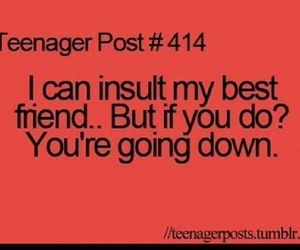 teenager post and best friend image
