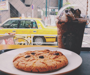 cookie, starbucks, and coffee image