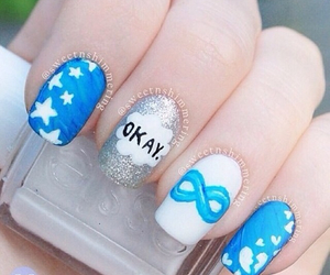 nails, blue, and the fault in our stars image
