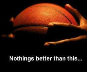 Basketball, basket, and nothing image
