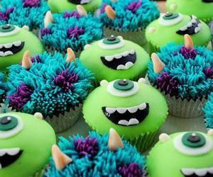 cupcake, food, and monster image