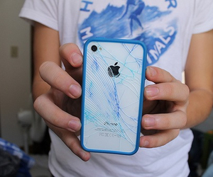 iphone, blue, and tumblr image
