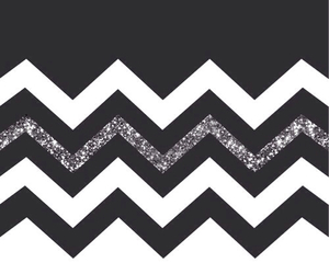 black and white, chevron, and iphone image