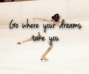 dreams, figure skating, and skater image