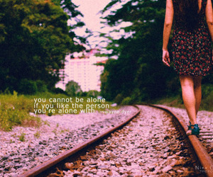 alone, photography, and railway image