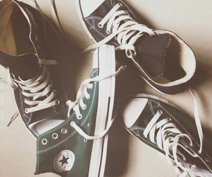 converse, all star, and green image
