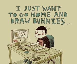 bunny and work image