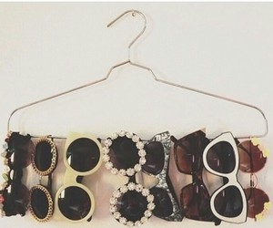 girly, glasses, and accessories image