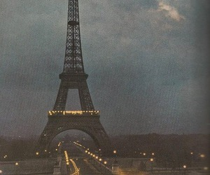 city, city lights, and france image