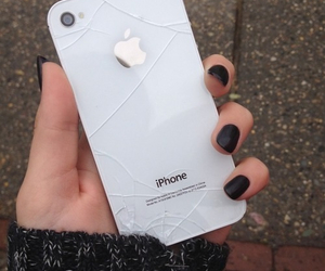 iphone, white, and black image