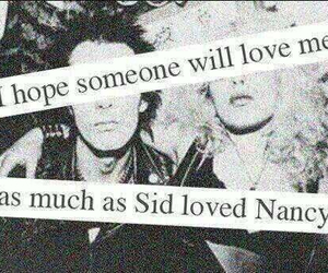 love, sid vicious, and Nancy image