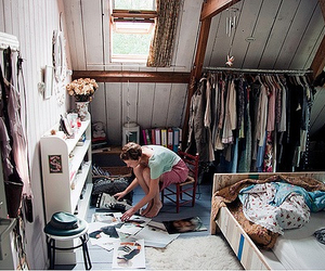 room, girl, and clothes image