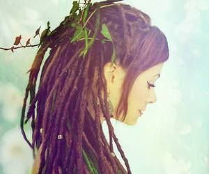 dreadlocks and girl image