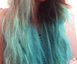 hair, longhair, and turquoise image
