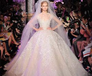 wedding dress and ellie saab image