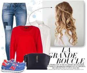 blue, braid, and ombre image