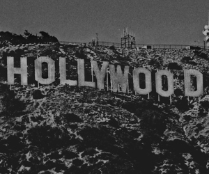 hollywood and black and white image