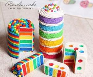 cakes, colours, and food image