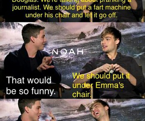 hilarious, interview, and logan image