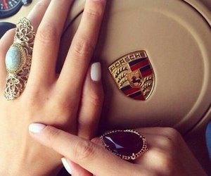 car, porsche, and nails image