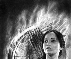 art, drawing, and Jennifer Lawrence image