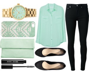 accessories, bag, and blouse image
