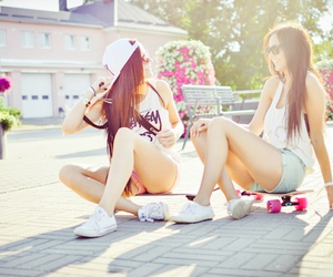 best friend, short, and skate image