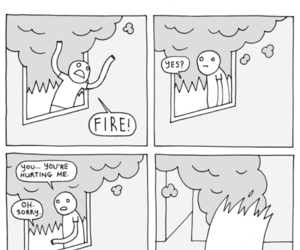 fire, funny, and lol image