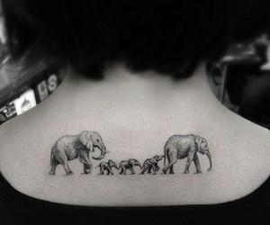 elephant, tattoo, and family image