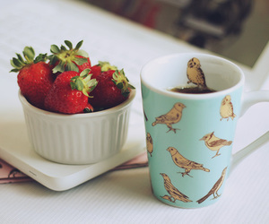 strawberry and vintage image