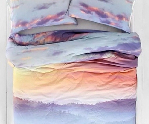 bed, sky, and sunset image