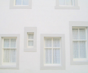 white, pale, and windows image