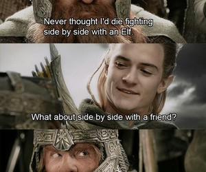 Legolas, gimli, and friends image