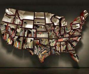book, bookshelf, and usa image